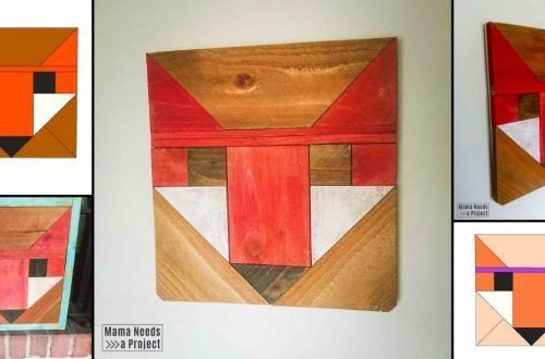 variations of the fancy fox wood quilt block