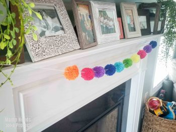 Rainbow garland for bright and colorful home decor