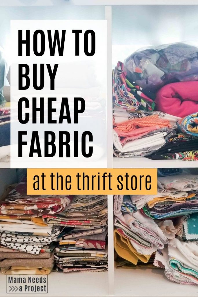 how to buy cheap fabric at the thrift store