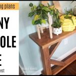 Skinny Console Table Woodworking Plans