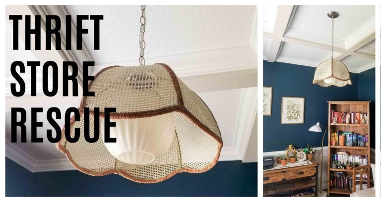 Vintage Swag Lamp | Thrift Store Rescue