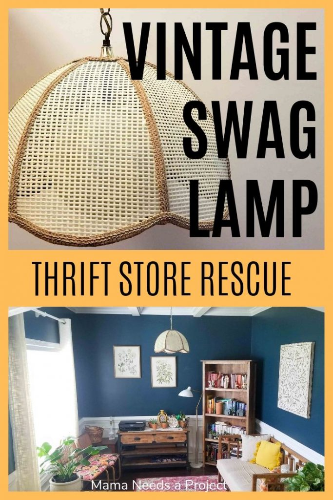 vintage swag lamp thrift store rescue