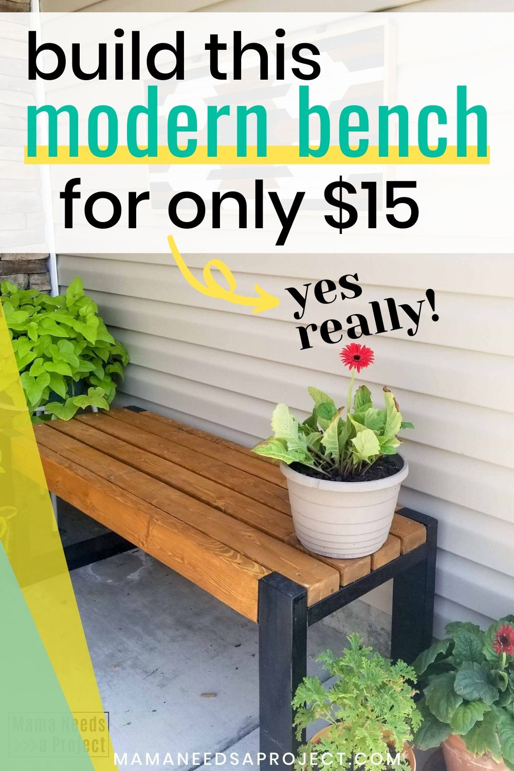 build this modern bench for only $15