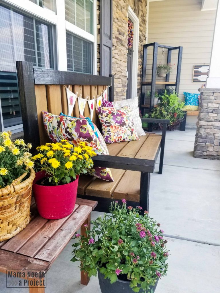 diy budget front porch makeover - diy  furniture and decor, plants