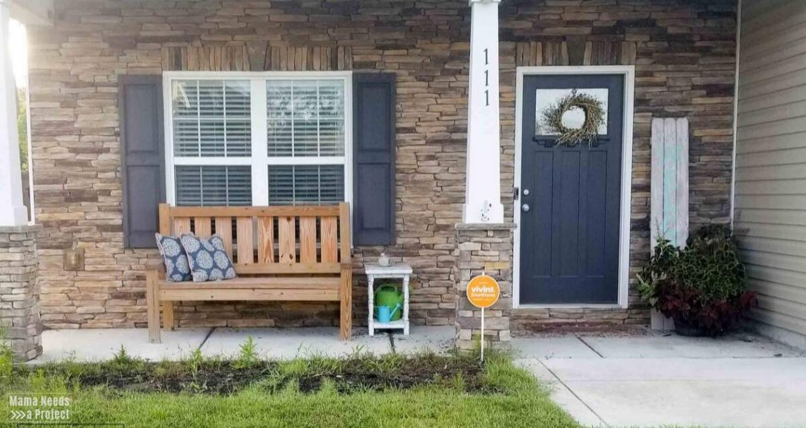 budget front porch makeover