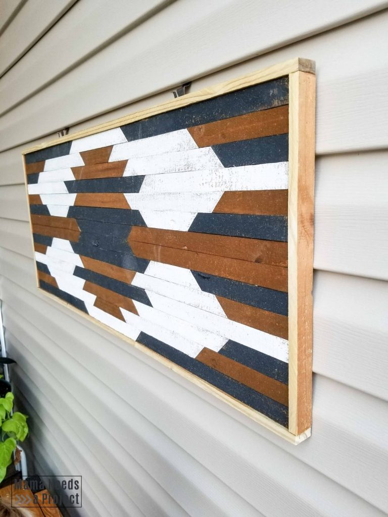 build outdoor wall art inspired by aztec design
