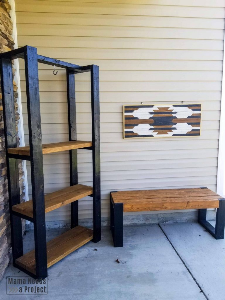 diy outdoor furniture collection on a front porch