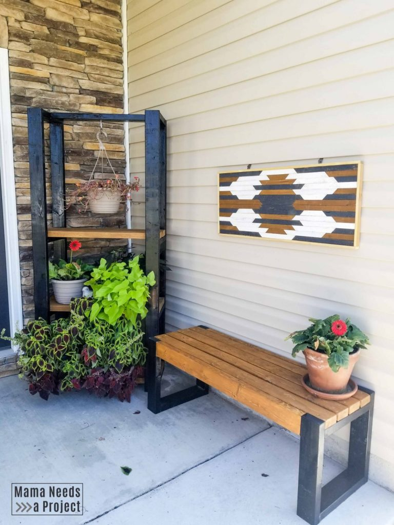 Diy Outdoor Plant Shelf Woodworking Plans Mama Needs A Project