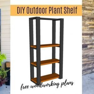 DIY outdoor plant shelf, free woodworking plans