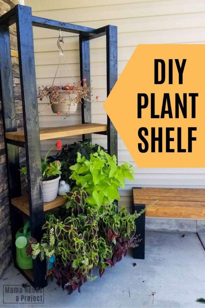 Diy Outdoor Plant Shelf Woodworking, Outdoor Plant Shelves