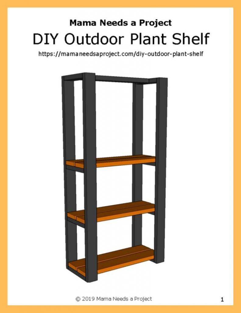 diy outdoor plant shelf free woodworking plans