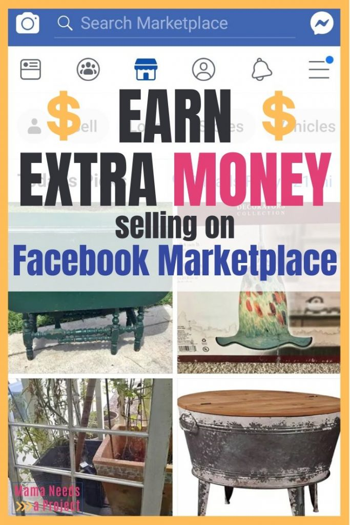 Earn extra money selling on facebook marketplace