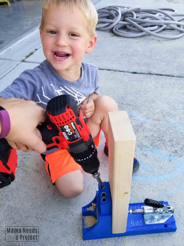 kreg jig and toddler