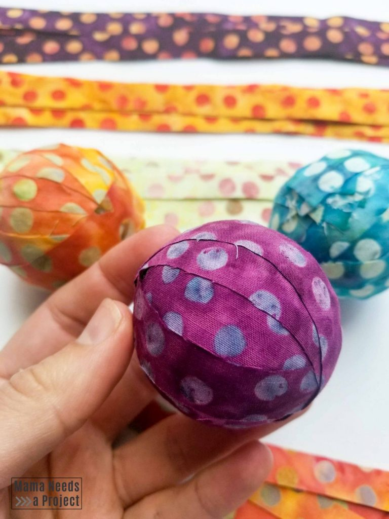 fabric covered balls