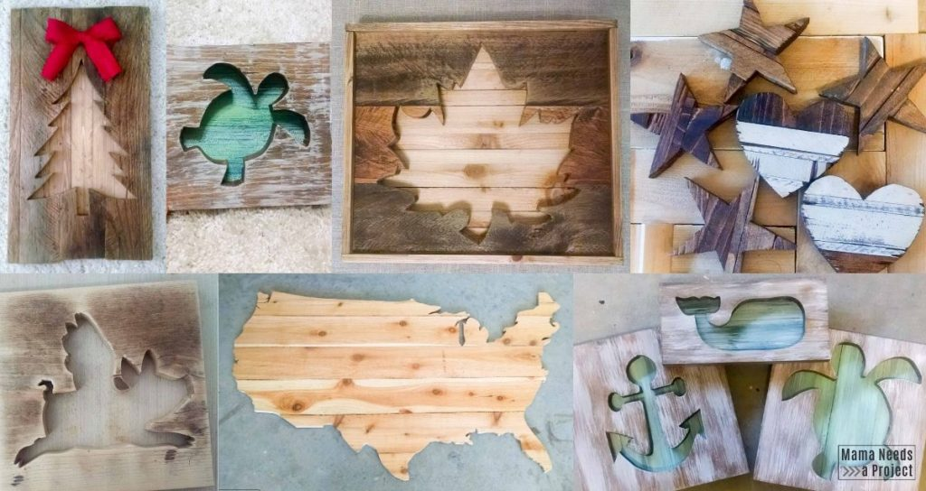 house wood craft shapes x 10.