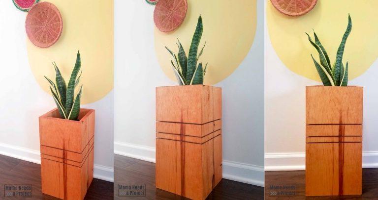 DIY Modern Wood Planter