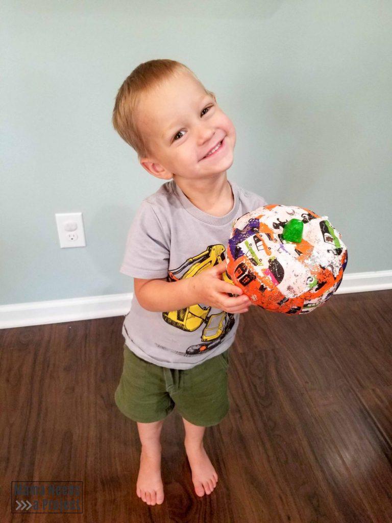 toddler scrap fabric pumpkin