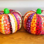 Quick Scrap Fabric Pumpkins (with video)
