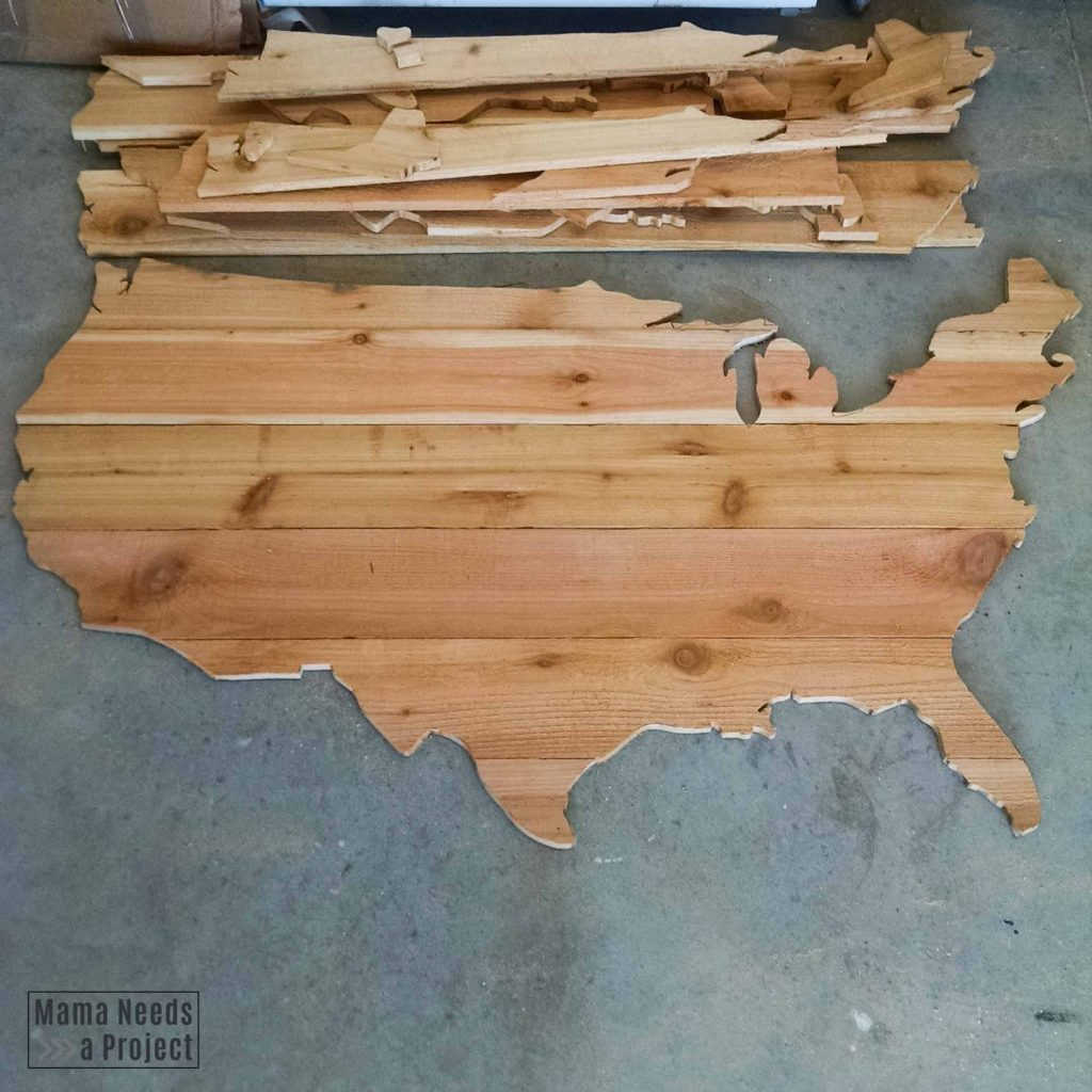 cut out map with a jig saw