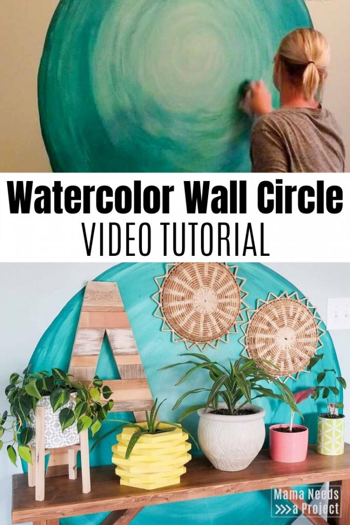 watercolor wall circle video tutorial