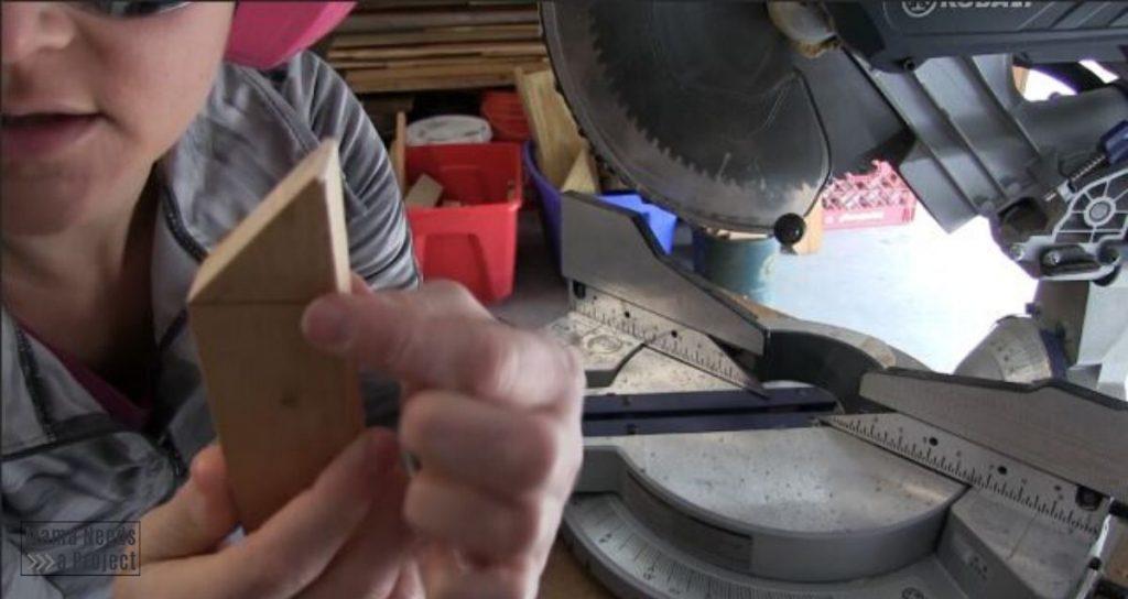 draw line across angled cut
