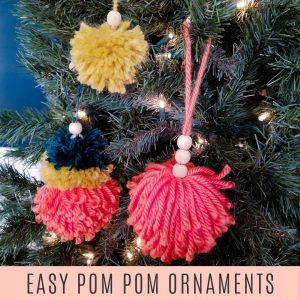 easy pom pom ornaments