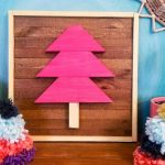 Scrap Wood Framed Christmas Tree