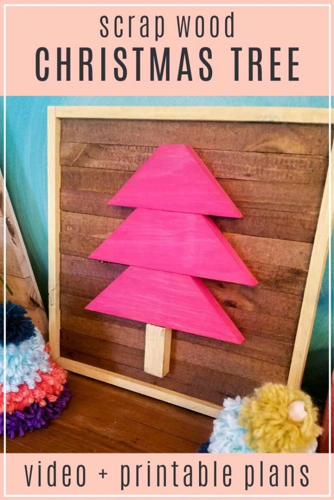 scrap wood christmas tree video and printable woodworking plans