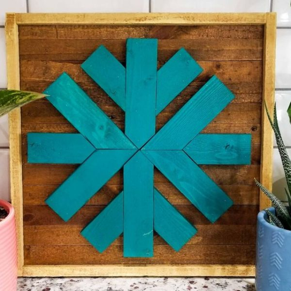 scrap wood snowflake easy diy wall decor