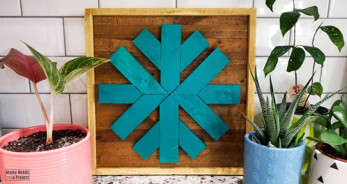 scrap wood snowflake easy diy wall decor