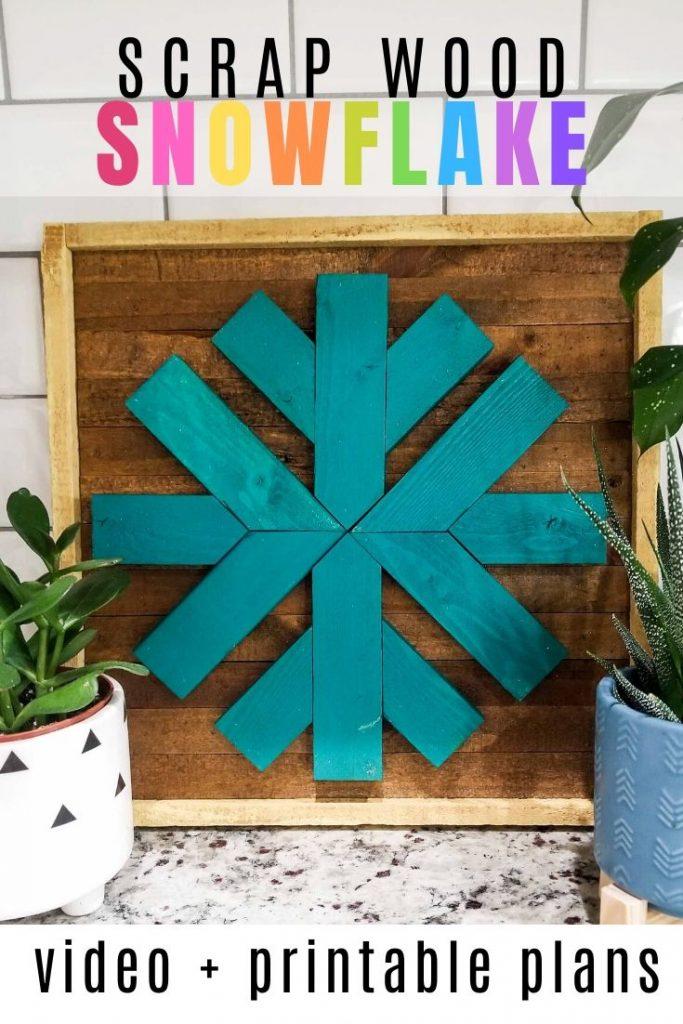 scrap wood snowflake video and printable woodworking plans