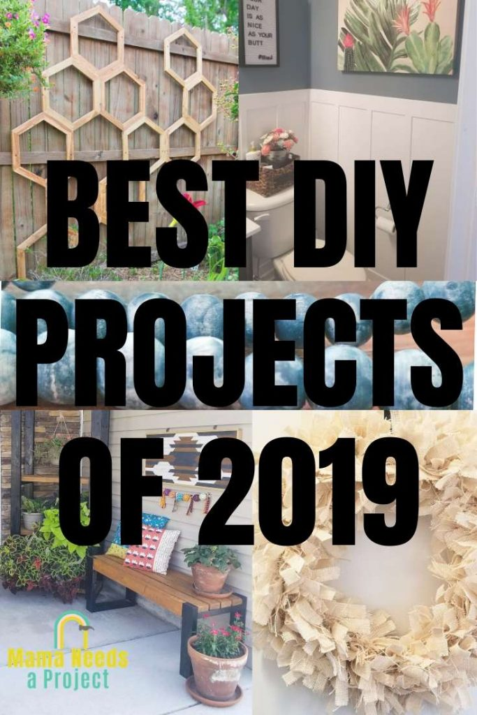 best DIY projects of 2019 pinterest image