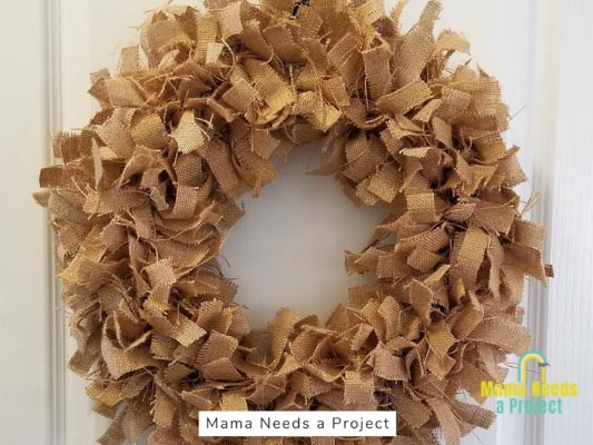 brown rag wreath