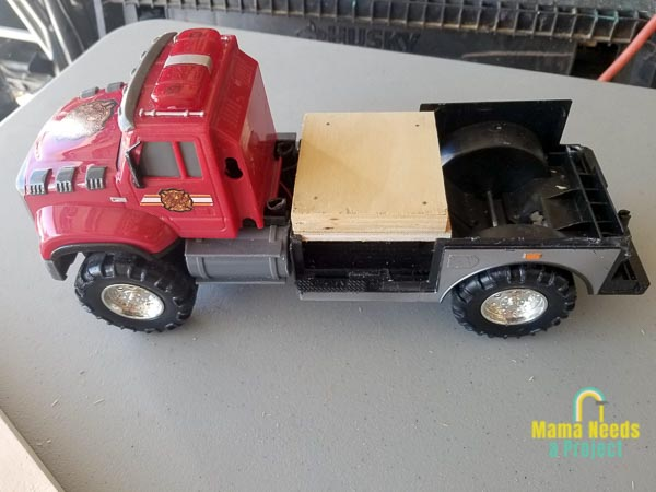 add extra support to base of toy truck