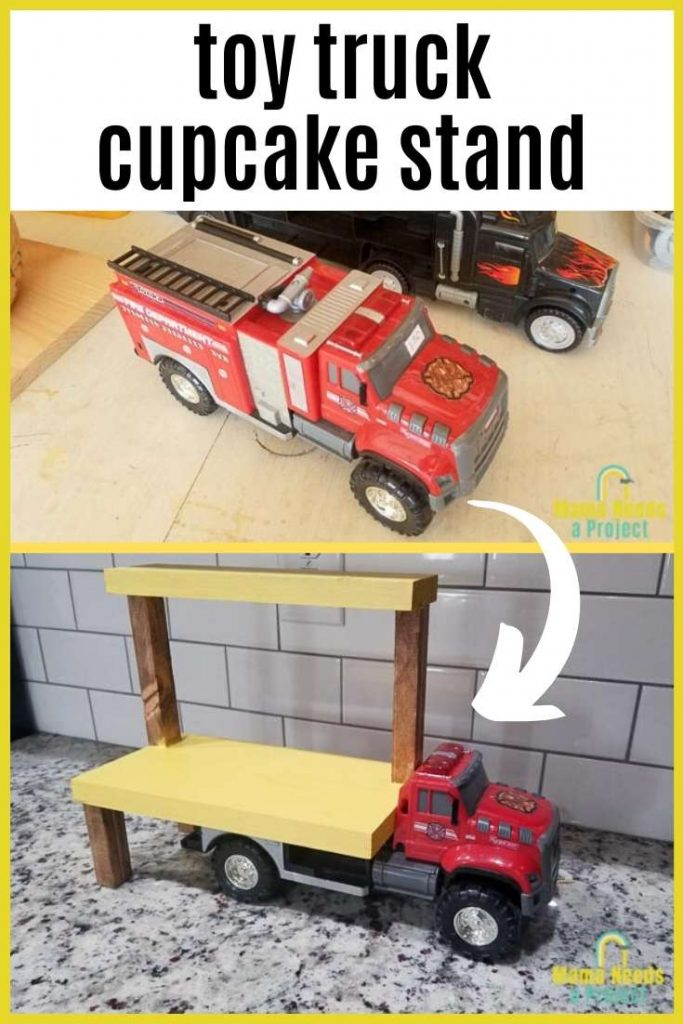 toy truck cupcake stand