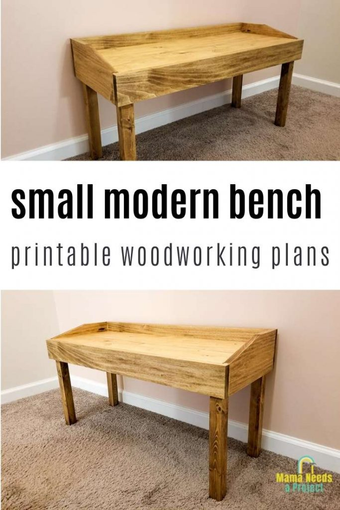 small modern bench printable woodworking plans