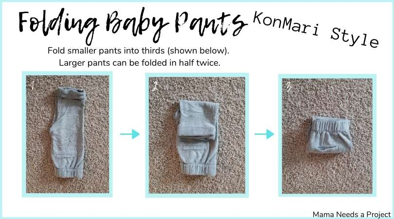folding baby pants konmari style picture graphic