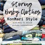 Storing Baby Clothes KonMari Style