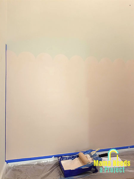 painting a scalloped wall
