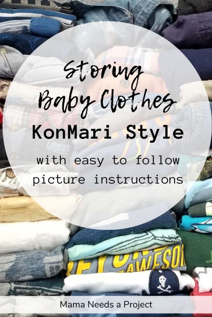 storing baby clothes konmari style  with easy to follow picture instructions