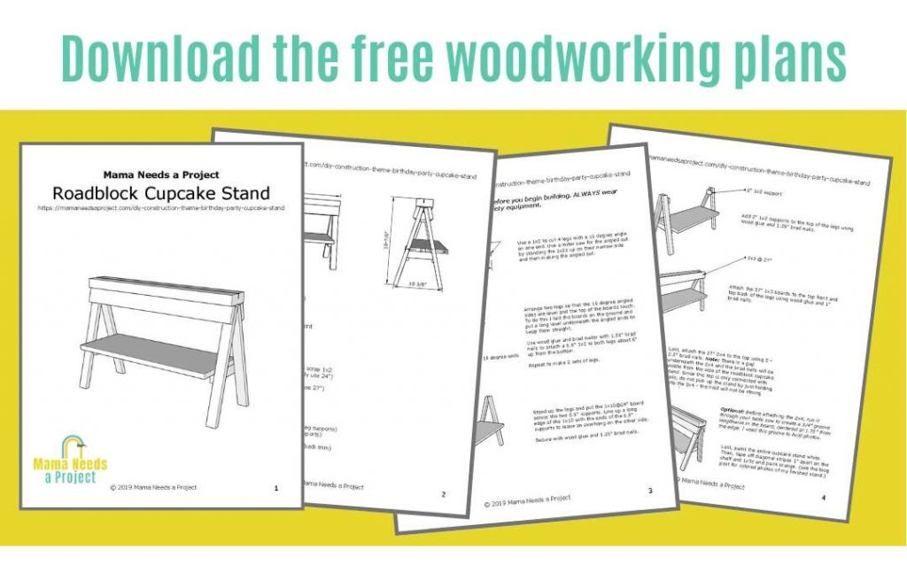 download the free woodworking plans, preview pictures of roadblock cupcake stand printable woodworking plans