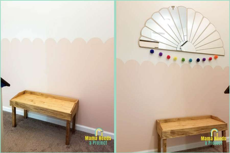 how to paint a scalloped wall