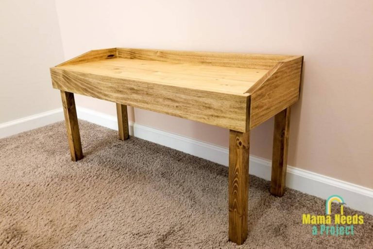 DIY Small Modern Bench Woodworking Plans