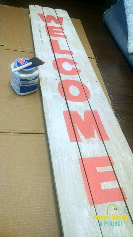 diy fence picket welcome sign