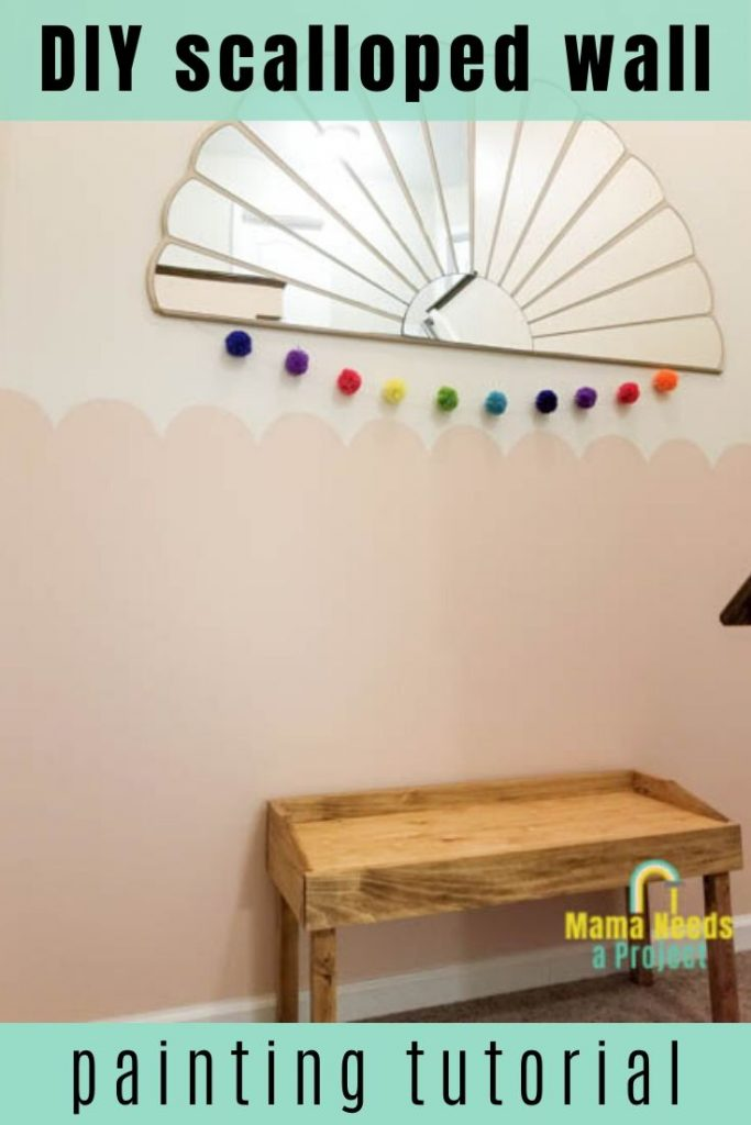 DIY scalloped wall painting tutorial