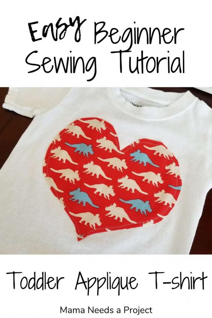 easy beginner sewing tutorial toddler applique t-shirt