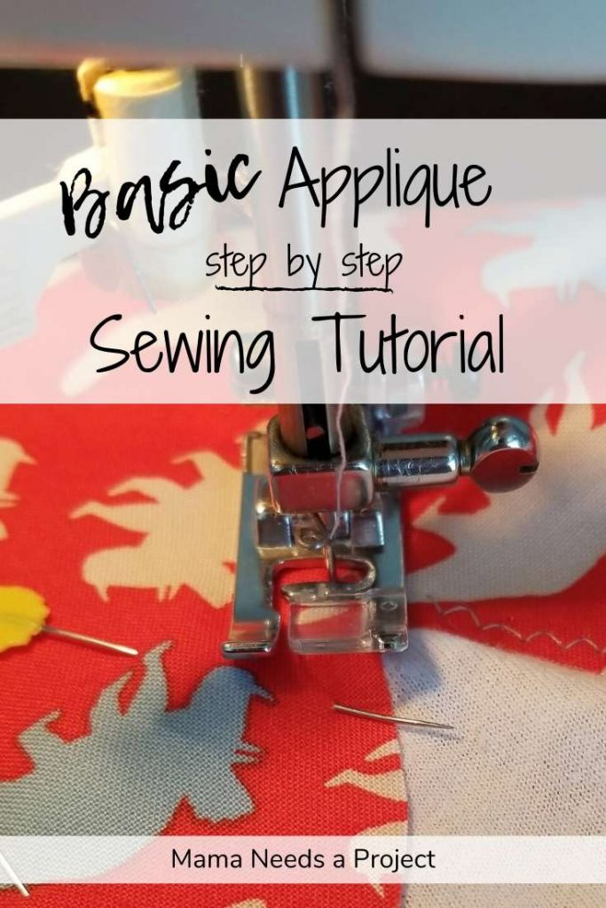 basic applique step by step sewing tutorial pinterest image