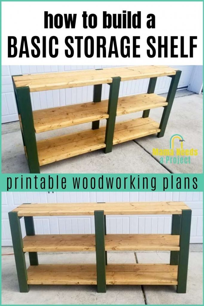 build a basic storage shelf printable woodworking plans