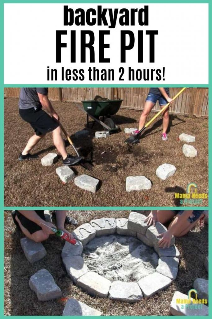 learn how to build a diy backyard fire pit in less than 2 hours