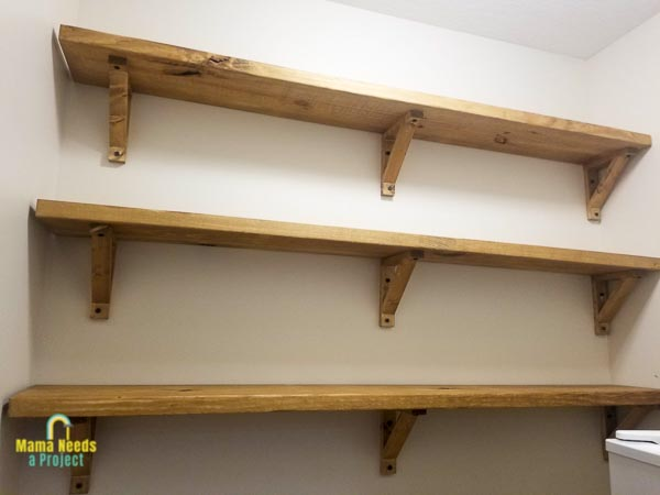 Diy Wood Shelf Brackets For Open